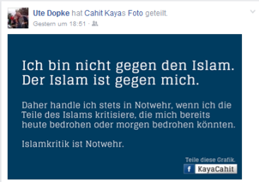 islam ist gegen mich